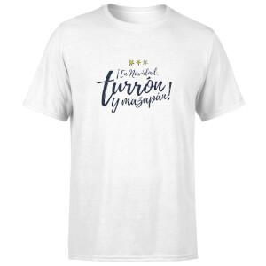 """Camiseta Navidad """"Turrón y Mazapán"""" - Hombre - Blanco"""