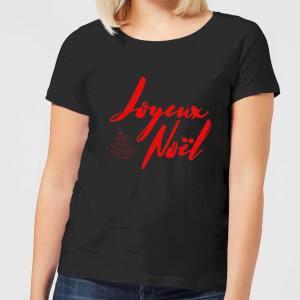 "Camiseta Navidad ""Joyeux Noël"" - Mujer - Negro"