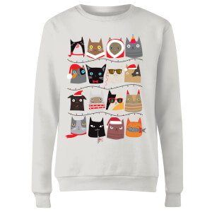 Christmas Cats Women's Sweatshirt - White
