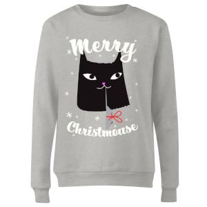 Merry Christmouse Women's Sweatshirt - Grey