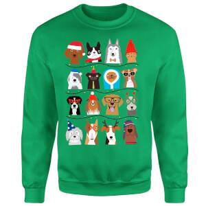Merry Dogmas Sweatshirt - Kelly Green