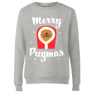 Merry Pugmas Women's Sweatshirt - Grey