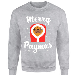 Merry Pugmas Sweatshirt - Grey