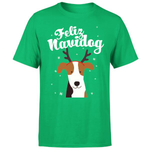 Feliz Navidog T-Shirt - Kelly Green
