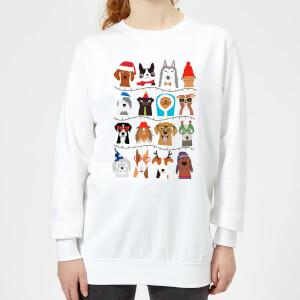 Merry Dogmas Frauen Sweatshirt - Weiß