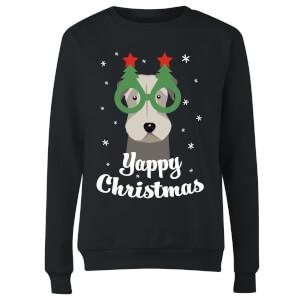 Yappy Christmas Women's Sweatshirt - Black