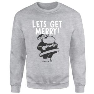 Lets Be Merry Sweatshirt - Grey