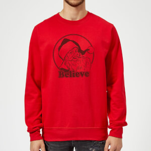 Believe Red Sweatshirt - Red