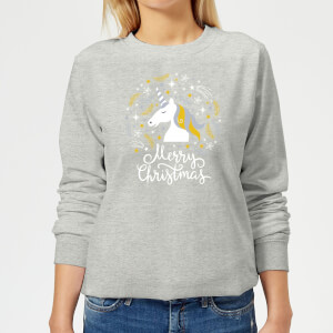 Unicorn Christmas Frauen Sweatshirt - Grau