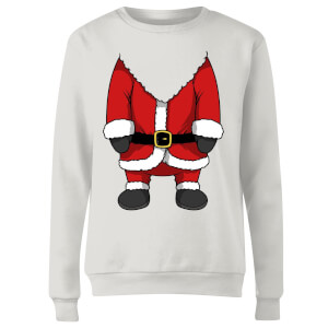 Santa Women's Sweatshirt - White