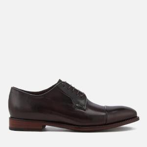 Paul Smith Men's Ernest Leather Toe Cap Derby Shoes - Oxblood