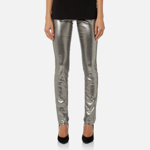 Versace Jeans Women's Metallic Trousers - Silver