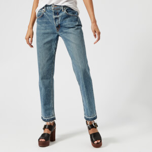 Helmut Lang Women's Straight Jeans - Light Blue