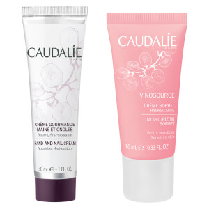Caudalie Vinosource Moisturising Sorbet and Caudalie Hand and Nail Cream (Free Gift) (Worth $13)