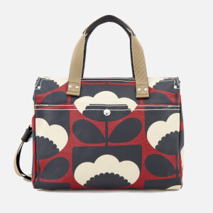 Orla Kiely Women's Small Zip Messenger Bag - Poppy