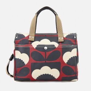 Orla Kiely Women's Small Zip Messenger Bag - Poppy