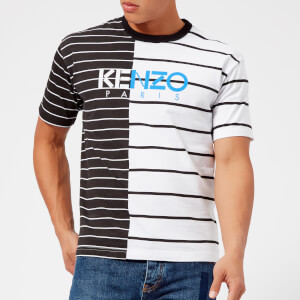 KENZO Men's Stripe Printed T-Shirt - White