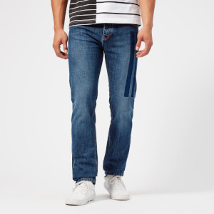 KENZO Men's Denim Printed Slim Fit Jeans - Blue