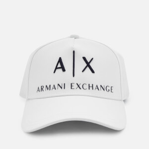 Armani Exchange Men's Logo Cap - White
