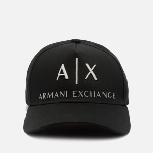 Armani Exchange Men's Corporate Ax Logo Cap - Black