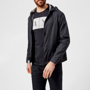 Armani Exchange Men's Zipped Lightweight Jacket - Dark Navy