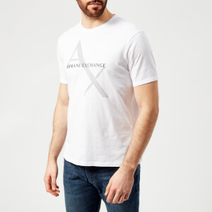 Armani Exchange Men's Ax Logo Reg Fit T-Shirt - White