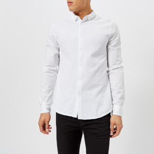 Armani Exchange Men's Long Sleeve Plain Shirt - White