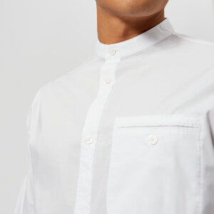 Armani Exchange Men's Grandad Collar Shirt - White