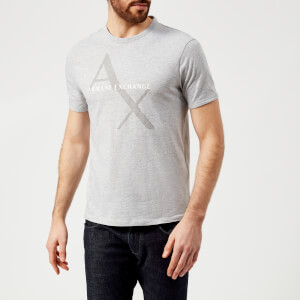 Armani Exchange Men's Ax Logo Reg Fit T-Shirt - Grey