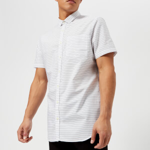 Armani Exchange Men's Short Sleeve Shirt - White/Black