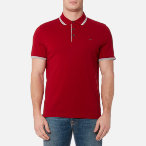 Michael Kors Men's Greenwich Logo Jacquard Polo Shirt - Ruby Red