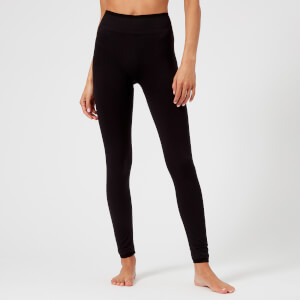M-Life Women's Classic Seamless Training Leggings - Black Marl