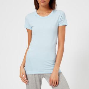 M-Life Women's Seamless Short Sleeve T-Shirt - Powder Blue Marl