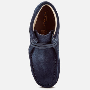Clarks Originals Kids' Wallabee Boots - Navy Suede: Image 3