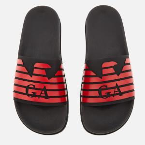 Emporio Armani Men's Slide Sandals - Black/Red