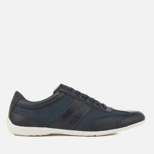 Emporio Armani Men's Leather Derby Action Shoes - Blue