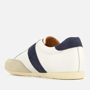 Polo Ralph Lauren Men's Price Nappa/Suede Low Profile Trainers - White/Indigo/Ivory: Image 2