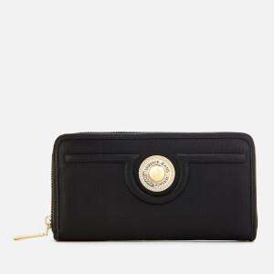 Versace Jeans Women's Zip Around Wallet - Black