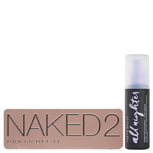 Conjunto de paleta e spray de fixação Urban Decay Naked 2 Palette and Setting Spray Bundle