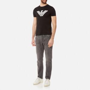 Emporio Armani Men's Aj Chest Logo T-Shirt - Nero: Image 3