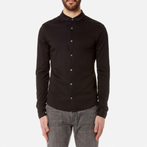 Emporio Armani Men's Cotton Long Sleeve Shirt - Nero