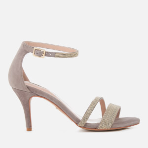 Carvela Women's Genesis Suede Heeled Sandals - Grey