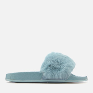 Carvela Women's Koat Fur Slide Sandals - Pale Blue