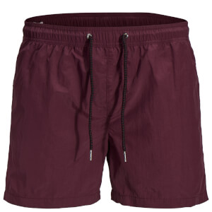 Jack & Jones Originals Men's Sunset Swim Shorts - Burgundy