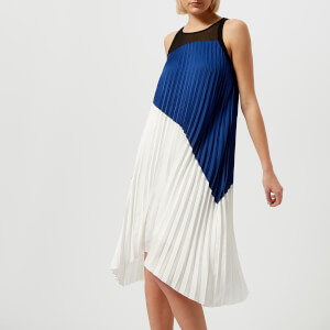 Karl Lagerfeld Women's Colour Block Pleated Dress - Multi