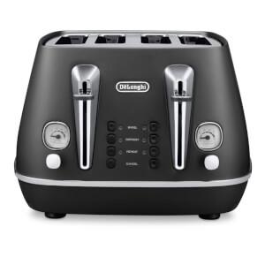 De'Longhi Distinta 4 Slice Toaster and Kettle Bundle - Black Finish: Image 4