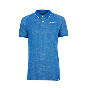 Jack & Jones Men's Core Melange Polo Shirt - Nautical Blue
