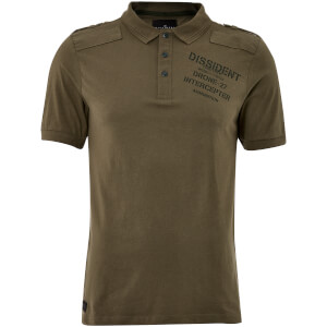 Dissident Men's Mazo Shoulder Panel Polo Shirt - Amazon Khaki