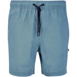 Dissident Men's Vittorino Fine Stripe Swim Shorts - Blue