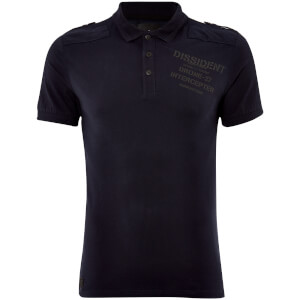 Dissident Men's Mazo Shoulder Panel Polo Shirt - True Navy